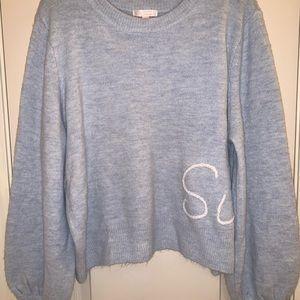 Lauren Conrad Sunday Balloon Sleeve Sweater Sz XL